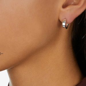 Monica Vinader Fiji Sterling Silver Mini Hoop Earrings